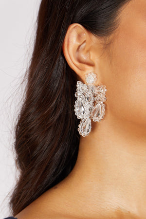 Celestial Crystal Earrings Clear