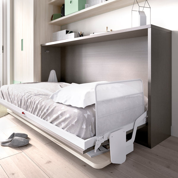 Side folding single bed with desk- Custom made furniture Ireland