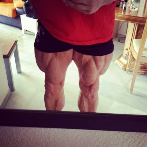 Legs before Olympia
