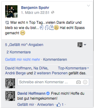 Feedback Personal Training David Hoffmann