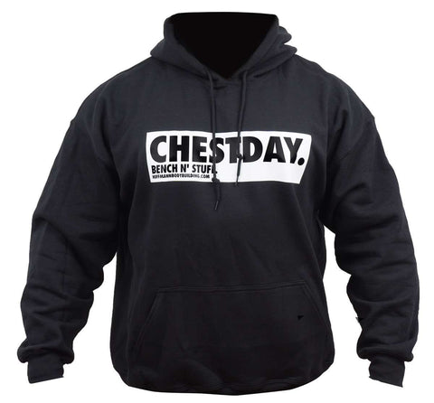 Chestday - Bench n' Stuff - Schwarzer Herren Hoodie