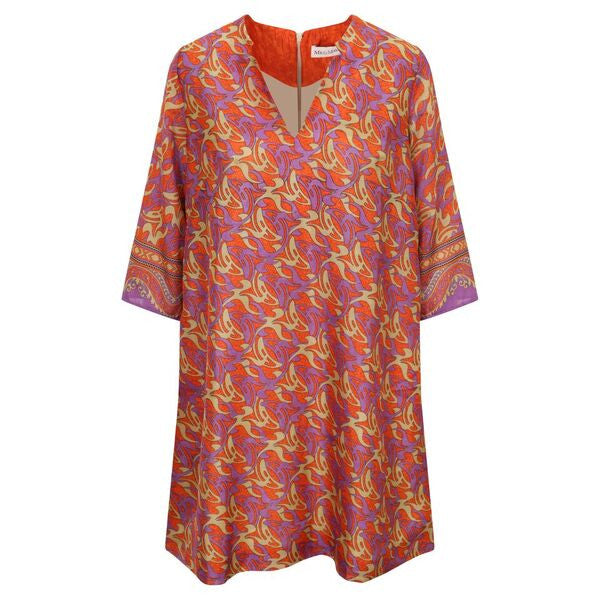 Jenna Dress - Orange & Purple