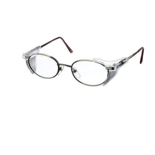 Metal Radiology Glasses - 0.75mm Lead Glass with 0.50mm Leaded side shield by Protech Medical USA