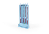 FH1705: 5 place manual ESR Erythrocyte Sedimentation Rate stand compatible with DISPETTE™ Sed Rate pipette