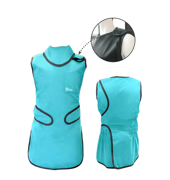 Custom Wrap Around Flexback Radiation safety apron; 0.50mm(LE) Front /0.25mm(LE) Back