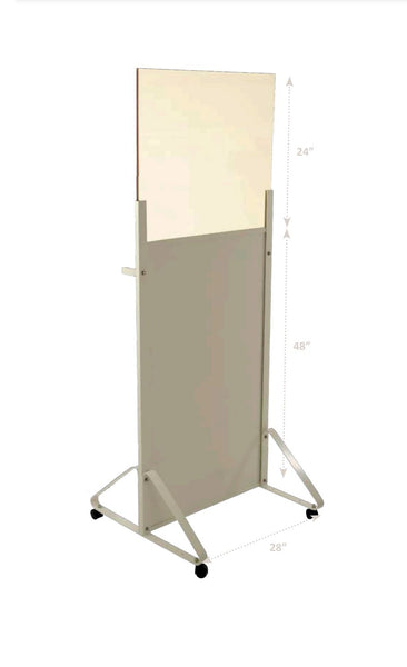 MOBILE ACRYLIC X-RAY BARRIER - HALF WINDOW