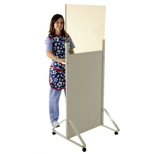 Half Mobile Barrier - Acrylic Lead Radiation & imaging Safety