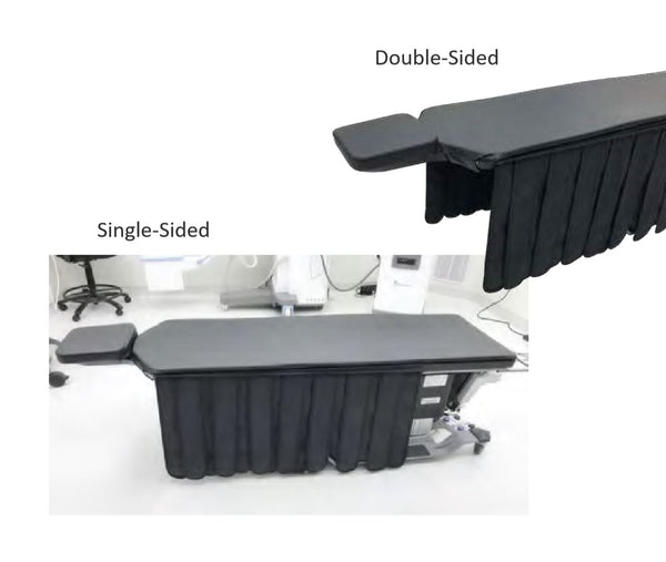 Custom Imaging Table Drapes - Radiation safety velcro drapes single & double-sided