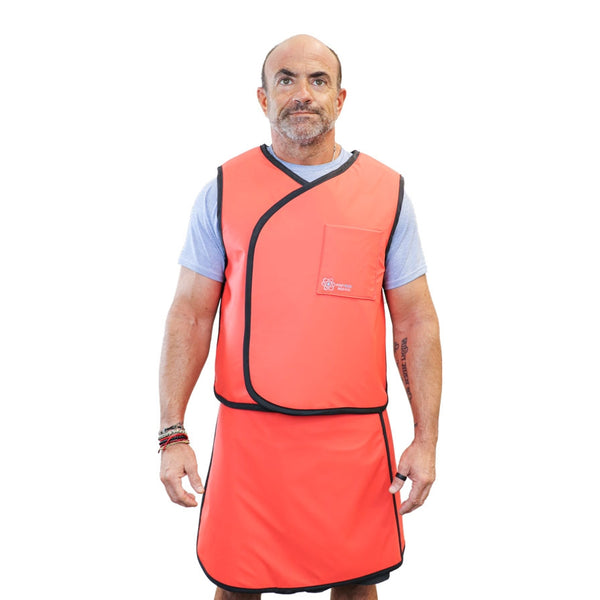Custom Vest Skirt 3/4 Overlap Radiation Safety Apron - USA MADE by Protech Medical