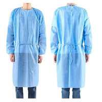 ISOLATION GOWN - BLUE SMS AAMI LVL 2 - 10/PACK