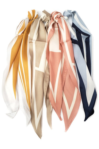 Beige Arrow Hair Scarf