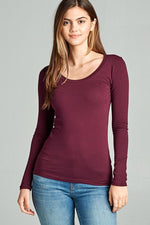 Plum Basic LS Round Neck Tee