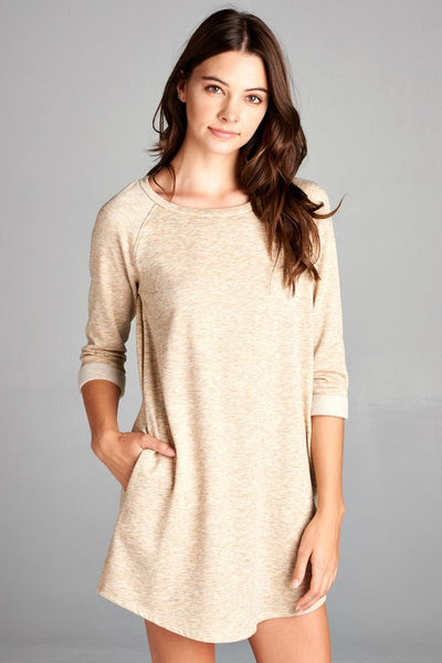 Oatmeal Sweatshirt Dress