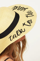 Talk To The Sand Sun Hat