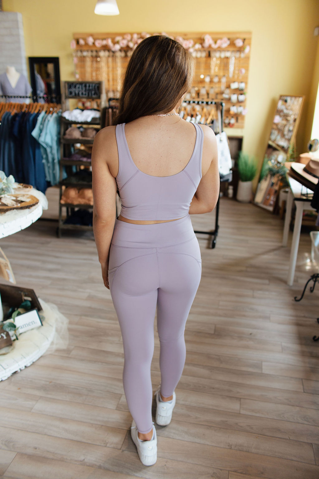 Dusty Purple Essential Sports Bra