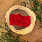 Red Messy Bow Headwrap