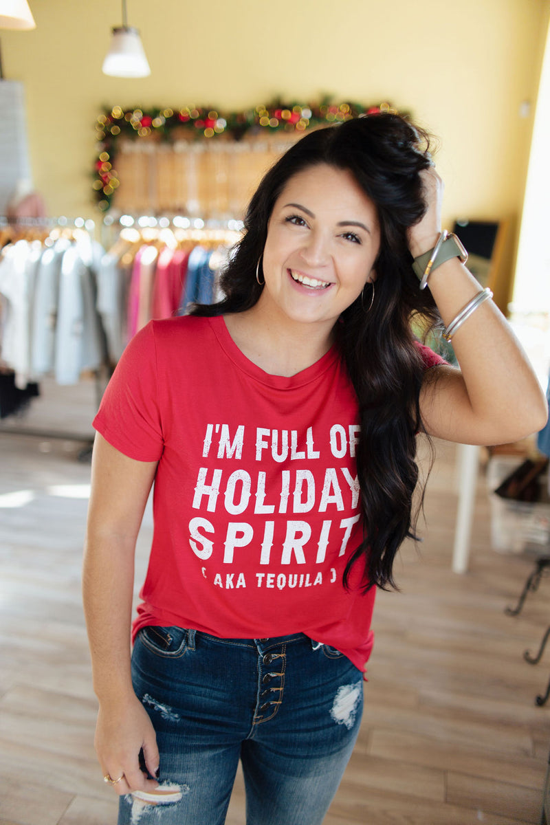 Red Holiday Spirit Tequila SS Top