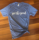 """See the Good"" Stonewash Denim - Give by Grace - Tee Shirt"