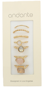 Gold/Blush 7 Piece Ring Set