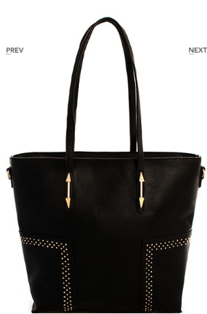 Black Tall Tote