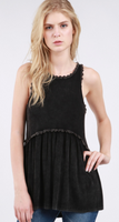 Black Babydoll Tank Top