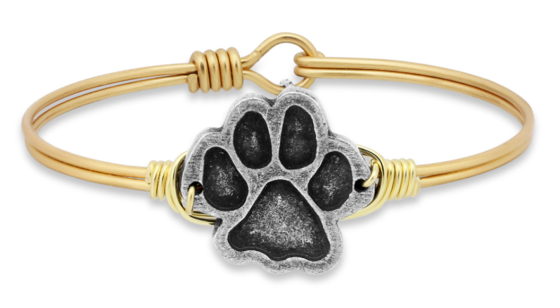 Paw Print, Regular, Gold, Luca + Danni