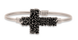 Ornate Cross, Regular, Silver, Luca + Danni