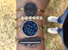 Swarovski Druzy In Metallic Blue, Regular, Gold, Luca + Danni