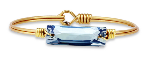 Swarovski Hudson In Denim Blue, Petite, Gold, Luca + Danni