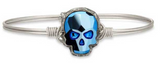 Sugar Skull In Metallic Blue, Regular, Silver, Luca + Danni