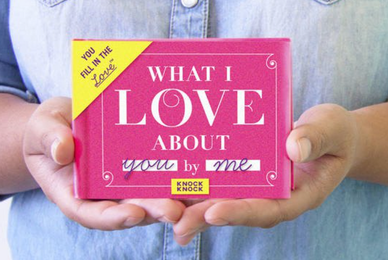 """What I Love About You From Me"" Fill in the Love Journal"