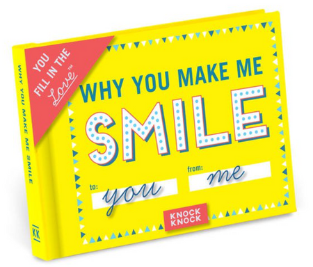 """Why You Make Me Smile"" Fill in the Love Journal"