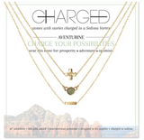 Charged Necklace Set (3 Necklaces) Aventurine and Gold