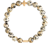 Charged Bracelet Dalmatian Jasper and Gold