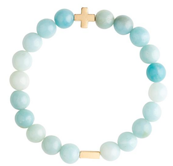 Charged Bracelet Amazonite and Gold