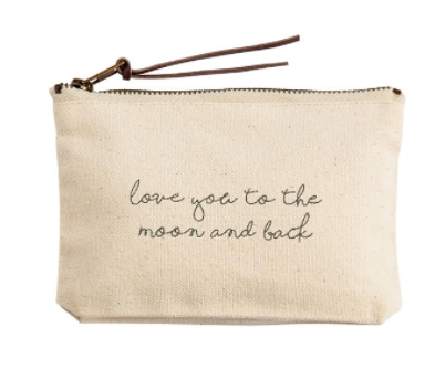 """Love You To The Moon and Back"" Cosmetic Bag"