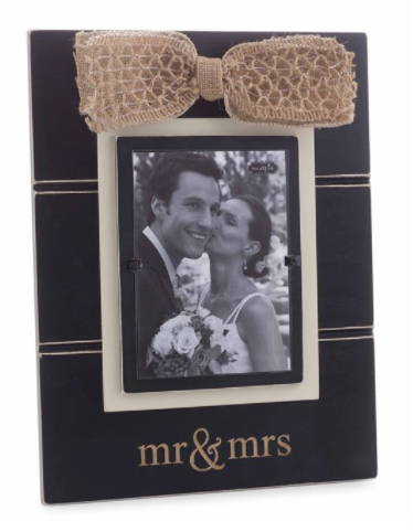 """Mr & Mrs"" Picture Frame"