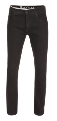 Men's Slim Fit Twill Jeans, Black