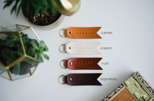 Pointed Keychains: our favorite words
