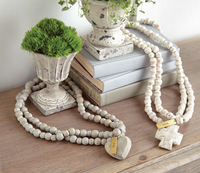 White Washed Cross Decorative Beads
