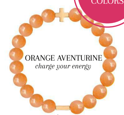Charged Bracelet Orange Aventurine