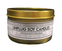 7 oz. Tin Candle - Unplug - Teakwood and Tobacco