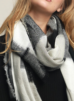 Black and White Buffalo Checkered Scarf