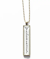 Fearless Warrior Glass Bar Necklace