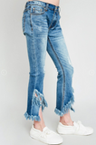 Little Buds Frayed Distressed Denim Flare Jeans