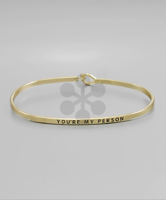 "Gold ""You're My Person"" Bangle"
