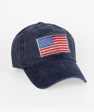 Navy American Flag Ball Cap
