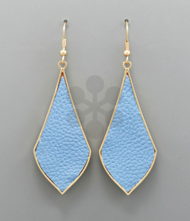 Light Blue Rhombus Earrings