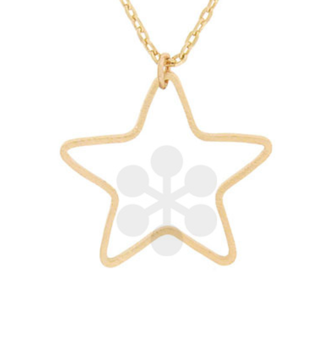 Gold Star Cut Out Necklace