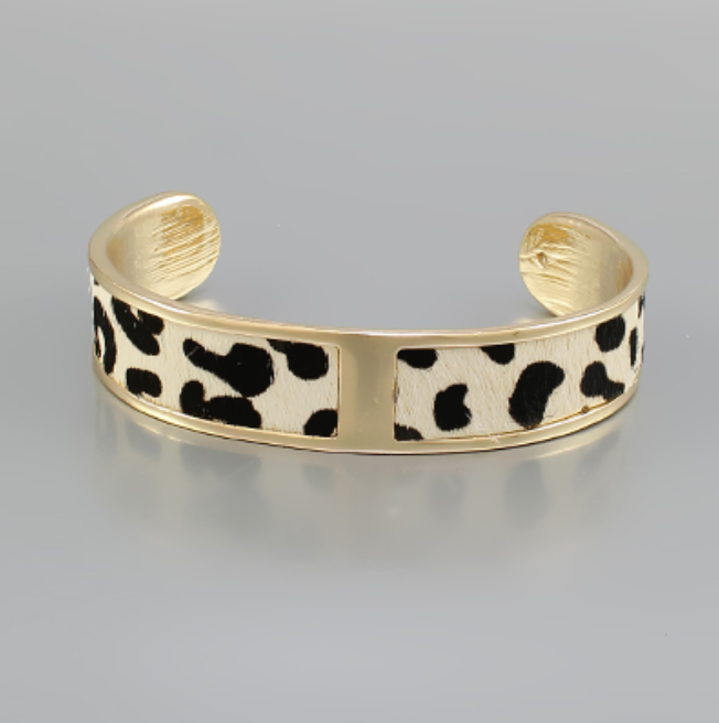Cheetah Print Leather Cuff